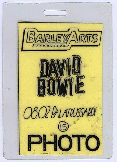 David Bowie Outside Tour Milano 8 Febbraio 1996 Pass