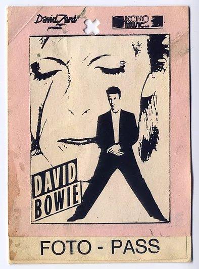 David Bowie Sound and Vision Tour Milano 14 Aprile 1990 Pass Foto 2