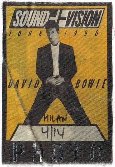 David Bowie Sound and Vision Tour Milano 14 Aprile 1990 Pass Foto