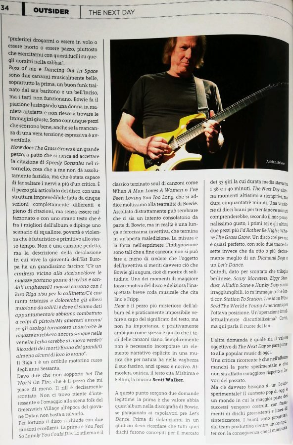 pagina 3 Outsider recensione The Next Day David Bowie stampa