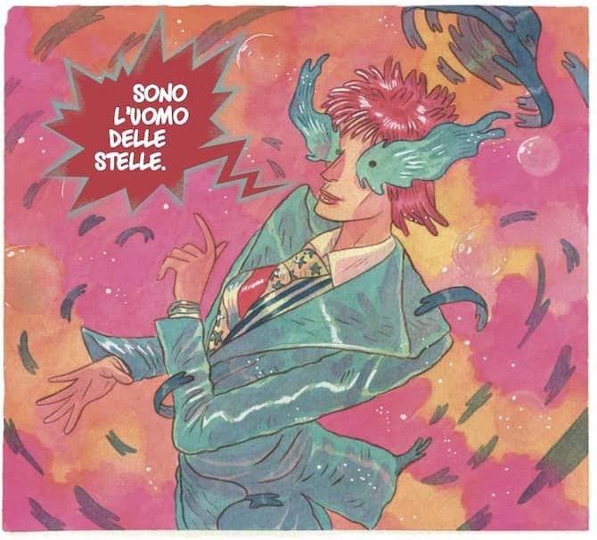 Starman Tavola Saetta Rossa Marco Bucci Bowie fumetto