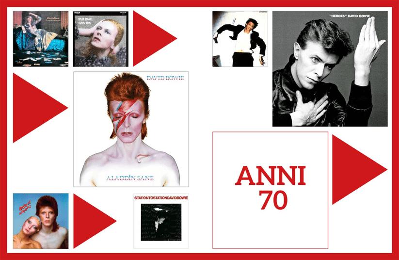 Pagina libro Anni 70 David Bowie Tutti gli Album Francesco Donadio