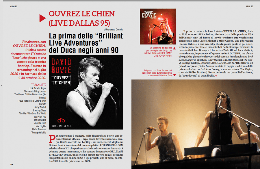 David Bowie - tutti gli album. Intervista a Francesco Donadio 6